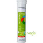 Vitaminall -tablete energizante efervescente fara gluten, lactoza, soia sau drojdie